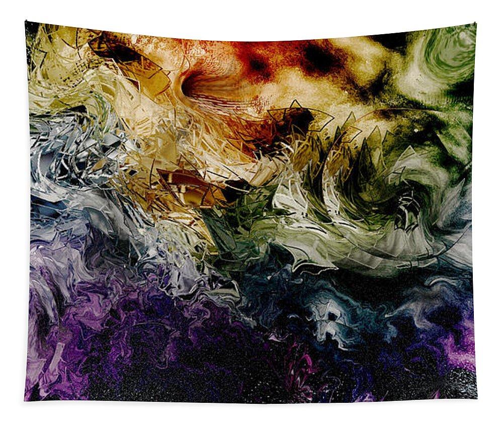 Fiery Tapestry featuring the digital art Fiery by Linda Sannuti