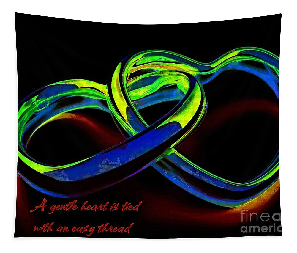 Valentines Tapestry featuring the digital art Heart Rings by Dragica Micki Fortuna