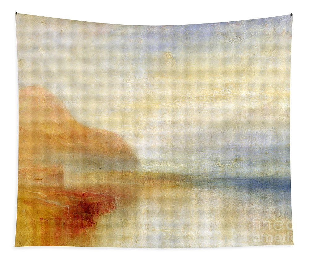 Inverary Tapestry featuring the painting Inverary Pier - Loch Fyne - Morning by Joseph Mallord William Turner