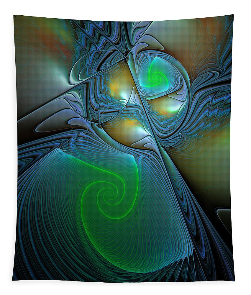 Digital Tapestry featuring the digital art Light In The Dark by Deborah Benoit
