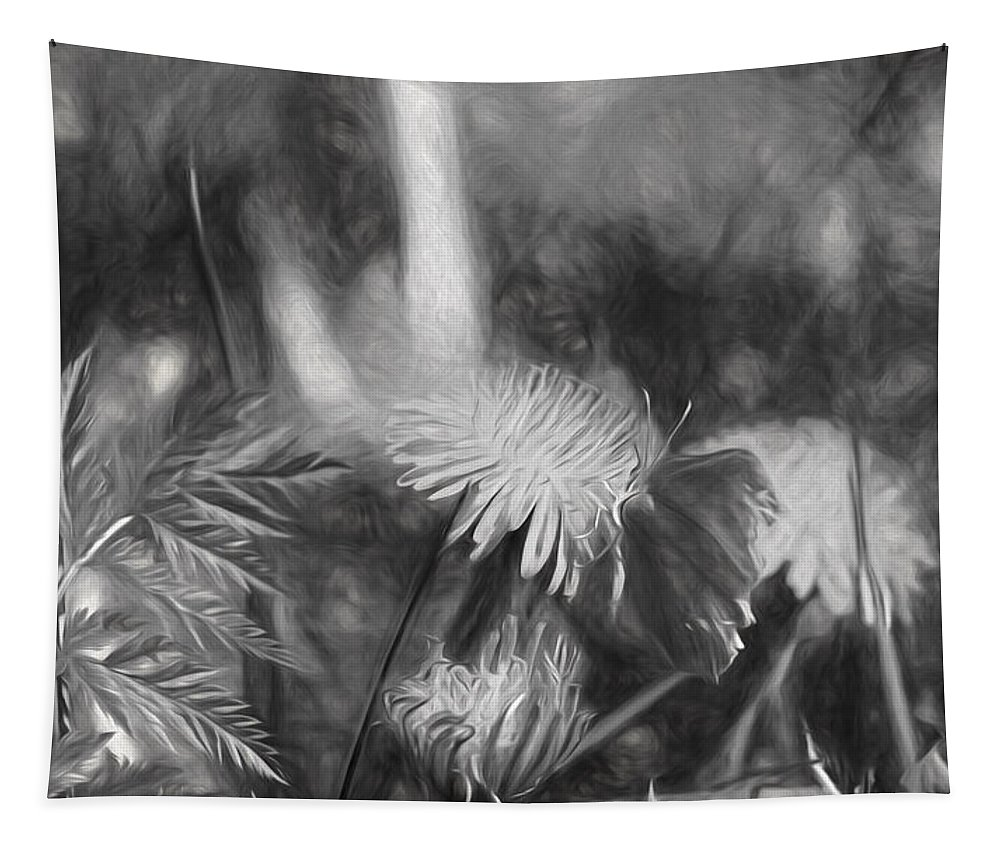 Monochrome Tapestry featuring the photograph Monochromeartistic Panterly Artistic Painterly Gonepteryx Rhamni Common Brimstone by Leif Sohlman