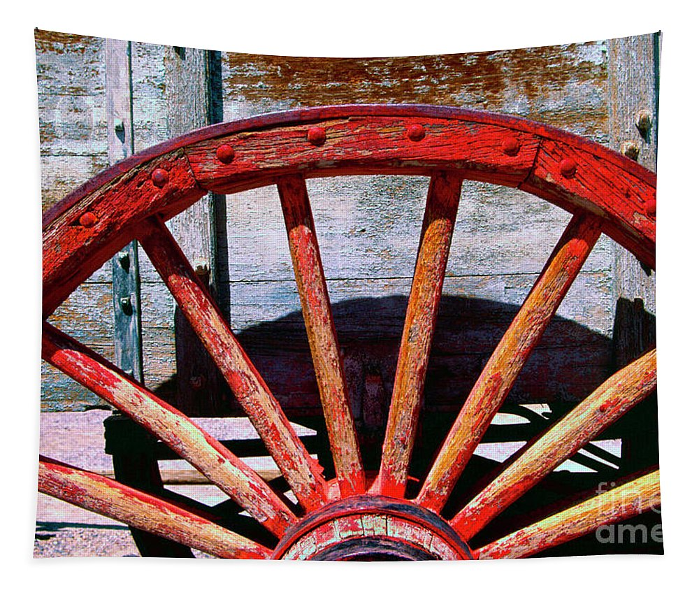 Borax Tapestry featuring the photograph 8 Spokes by Paul W Faust - Impressions of Light