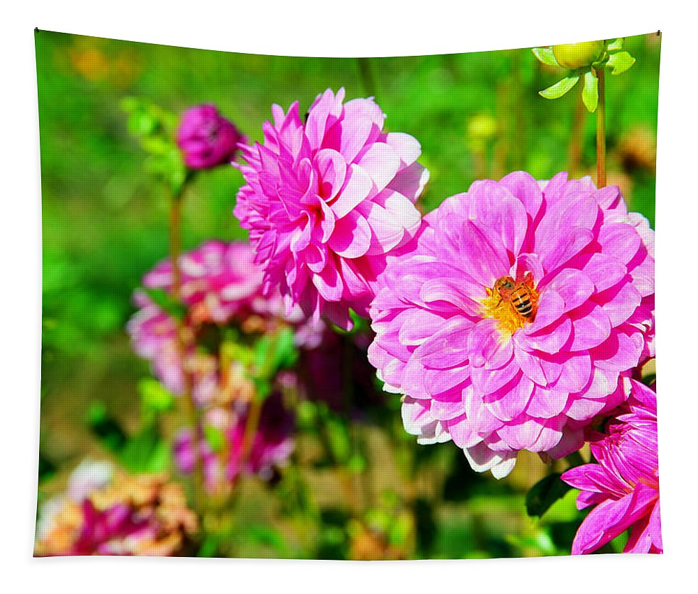 Flower Tapestry featuring the photograph A Beautiful Harvest by Jeff Swan