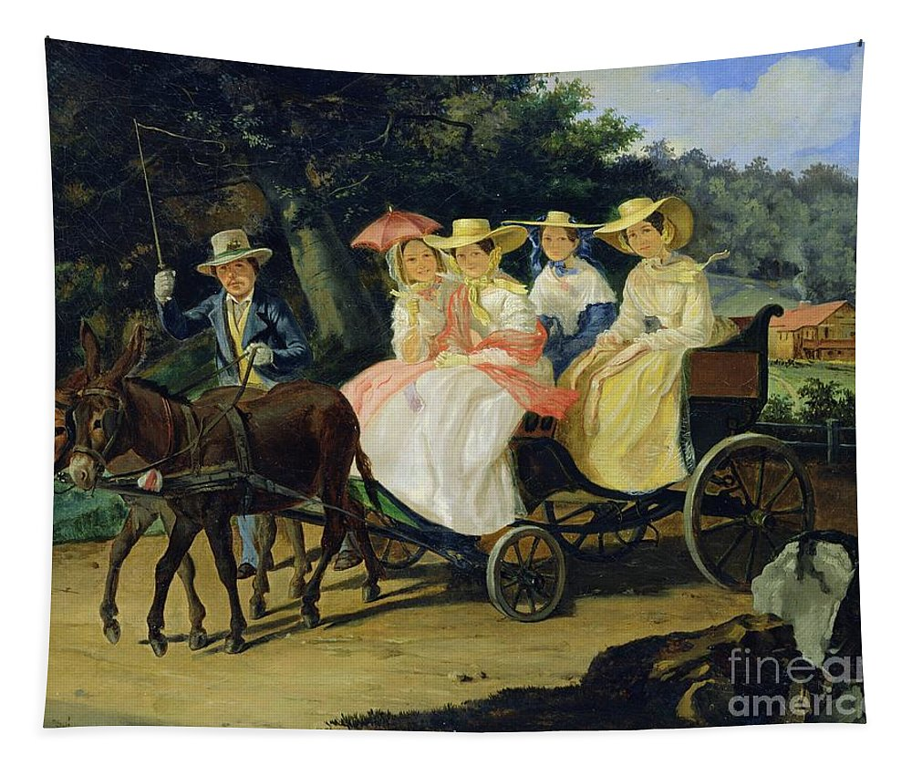 Run Tapestry featuring the painting A Run by Aleksandr Pavlovich Bryullov