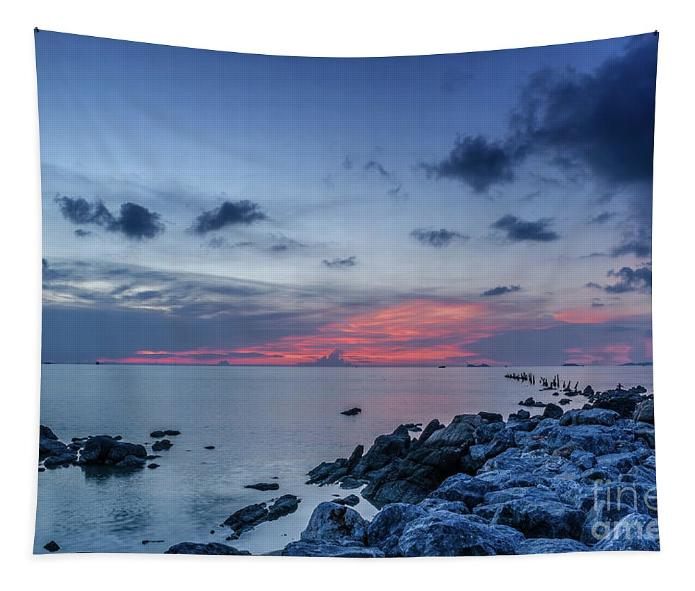 Michelle Meenawong Tapestry featuring the photograph A Touch Of Red by Michelle Meenawong