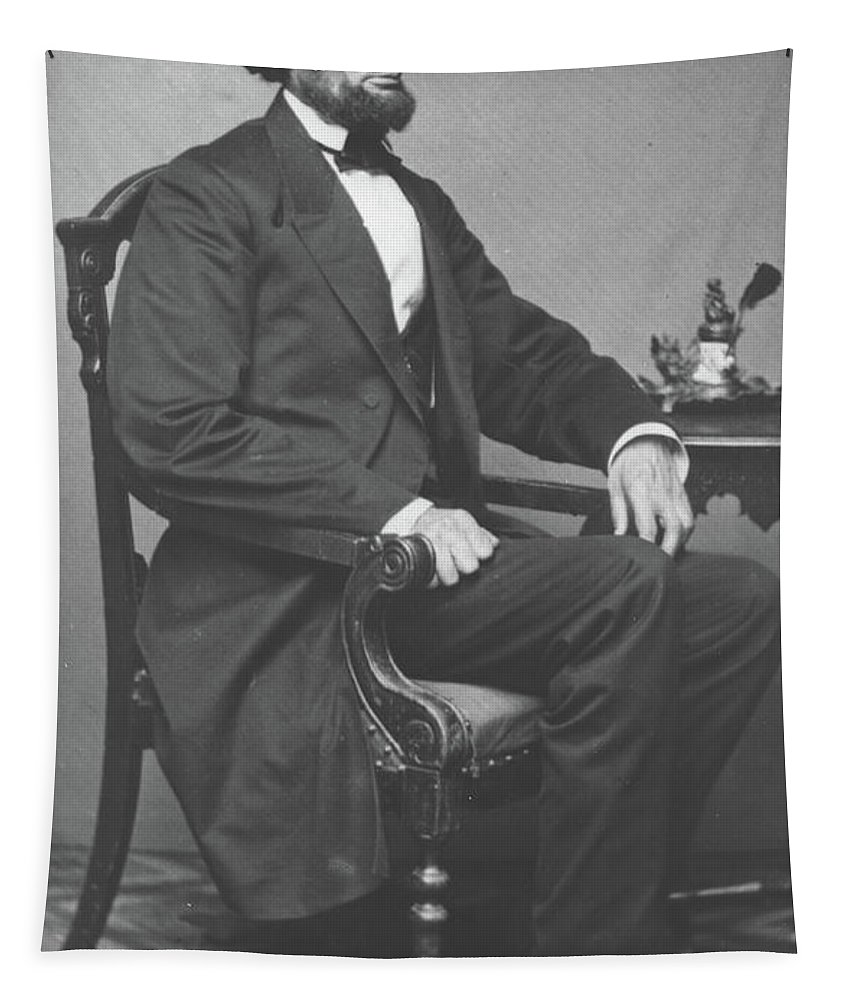 Abraham Tapestry featuring the photograph Abraham Lincoln by Alexander Gardner
