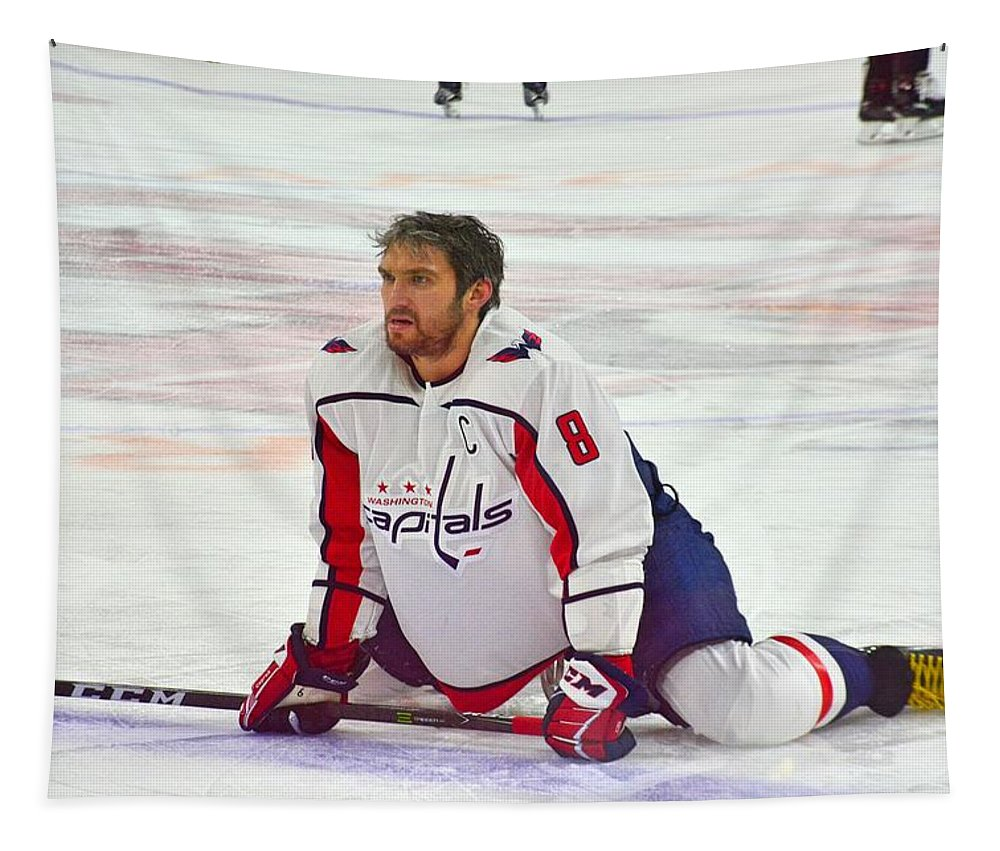 Alexander Ovechkin Tapestry featuring the photograph Alexander Ovechkin by Lisa Wooten