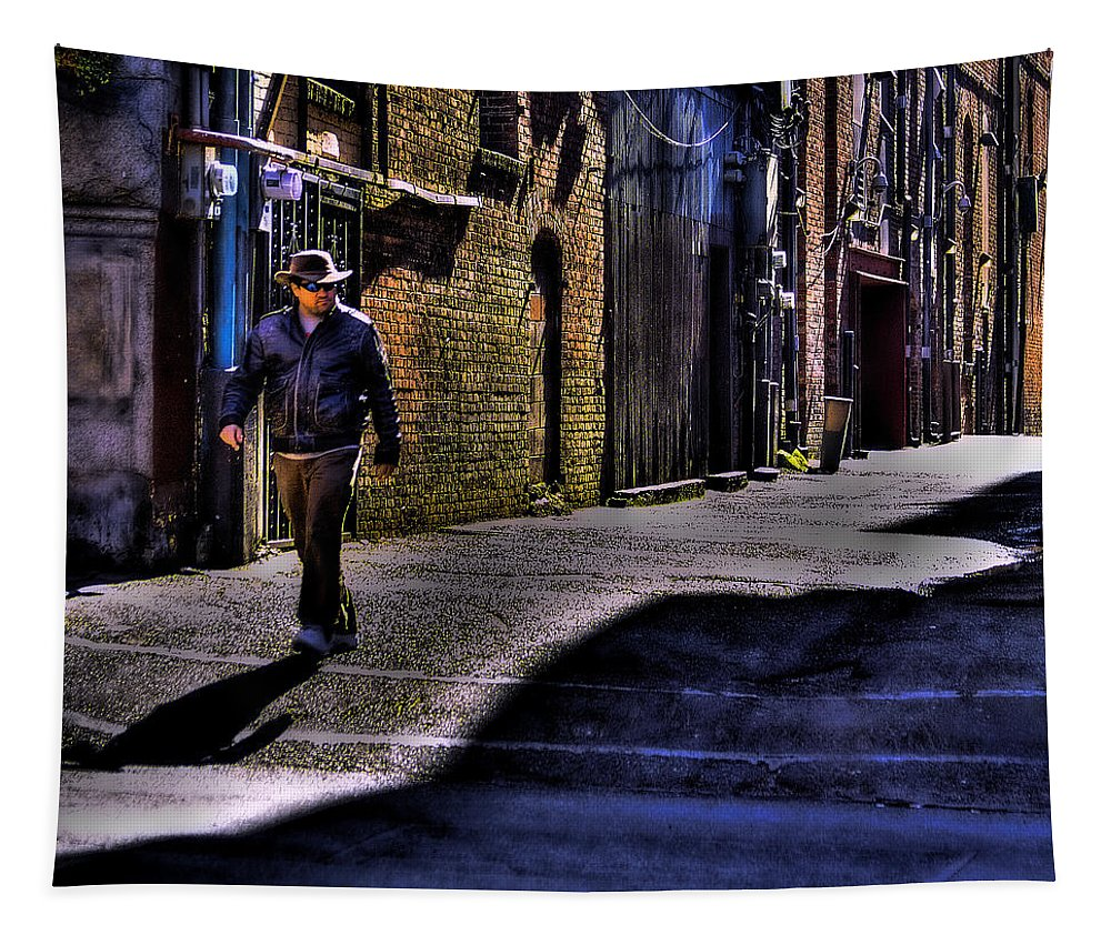 Pioneer Square Tapestry featuring the photograph Alley Stroll by David Patterson