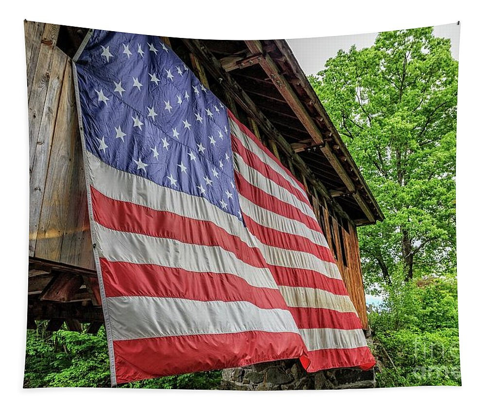 New Hampshire Tapestry featuring the photograph American Pride by Edward Fielding