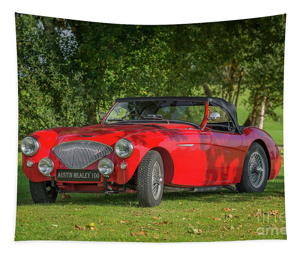 Sports Car Tapestry featuring the photograph Austin Healey 100 by Adrian Evans