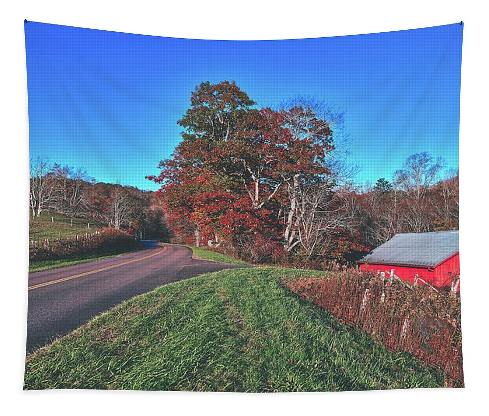 Autumn Tapestry featuring the photograph Autumn Countryside - North Carolina by Library Of Congress