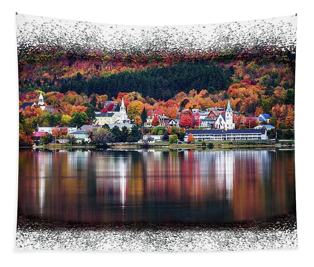 Autumn Tapestry featuring the photograph Autumn In Vermont by Sherman Perry