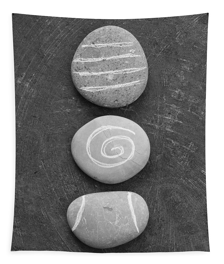 Stones Tapestry featuring the mixed media Balance by Linda Woods