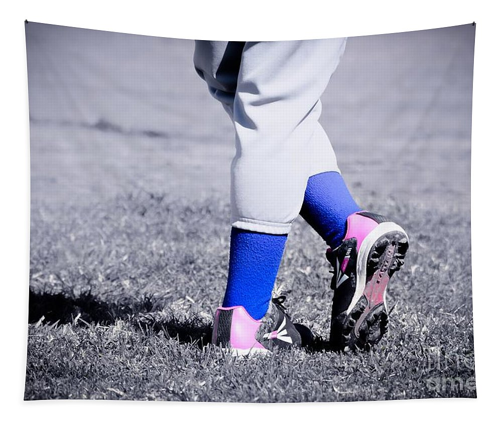 Baseball Tapestry featuring the photograph Ball Player by Leah McPhail