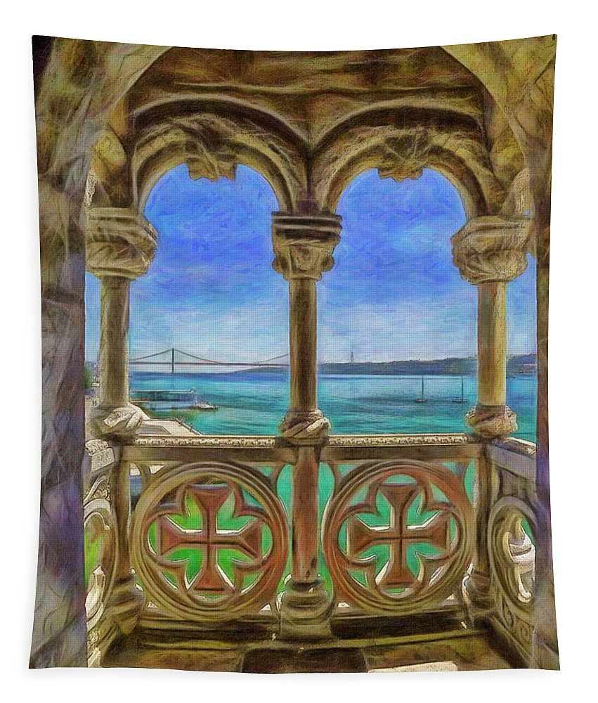 Portugal Tapestry featuring the photograph Belem Arches by Mikehoward Photography