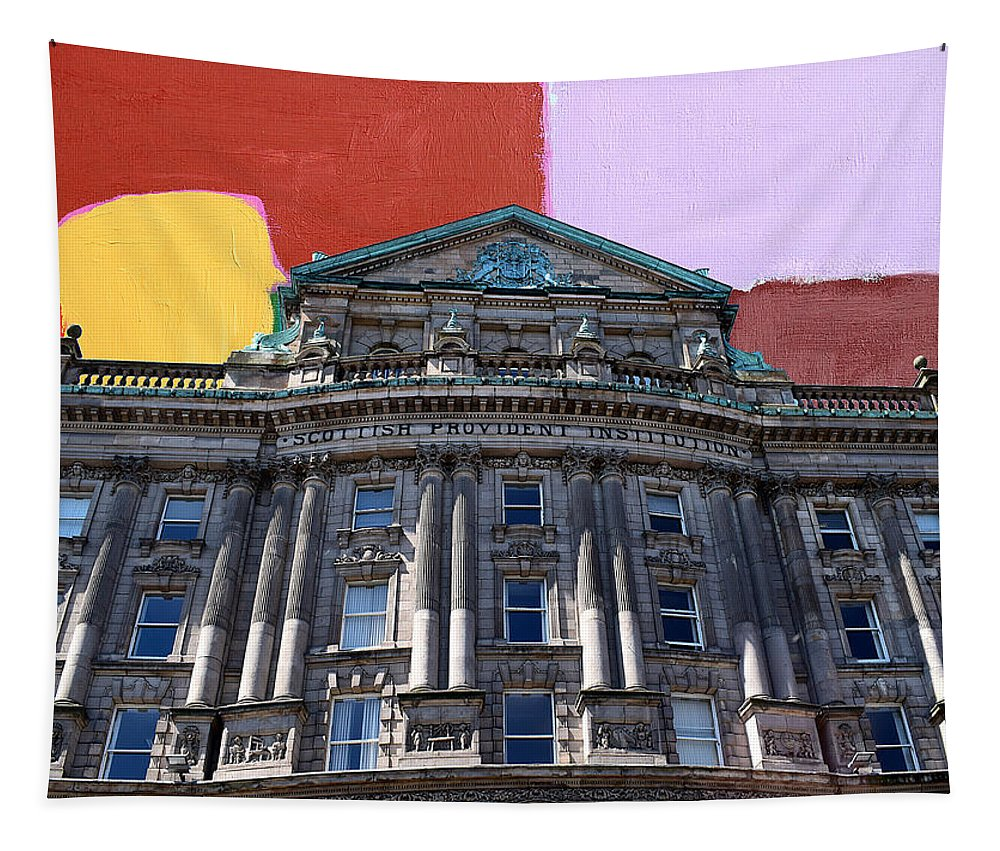 Tapestry featuring the painting Belfast Architecture 3 by Patrick J Murphy