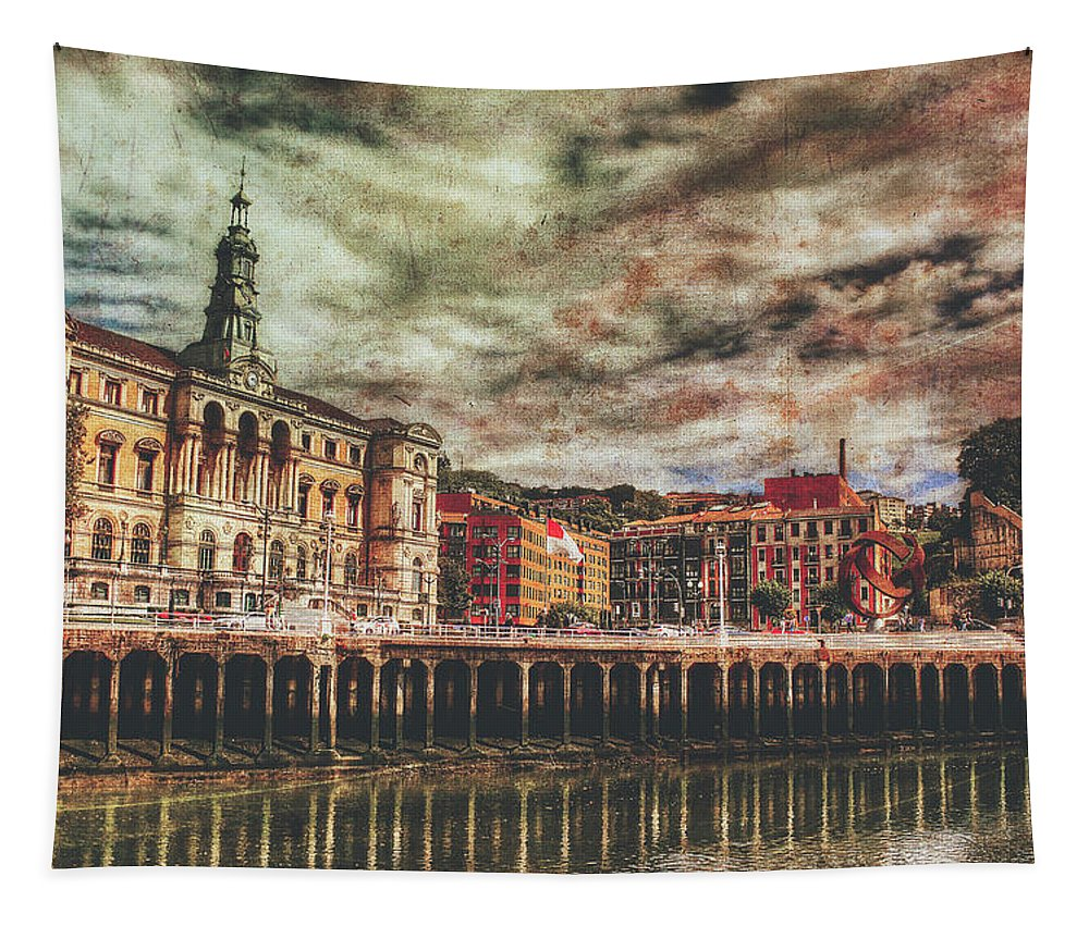 Bilbao Tapestry featuring the photograph Bilbao by Pixabay