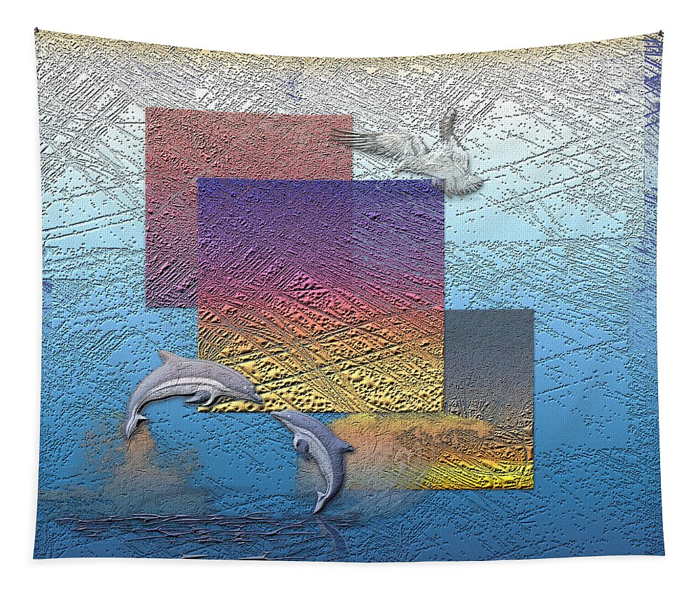�from Dusk Till Dawn� Collection By Serge Averbukh Tapestry featuring the photograph Blue Lagoon Sunrise by Serge Averbukh