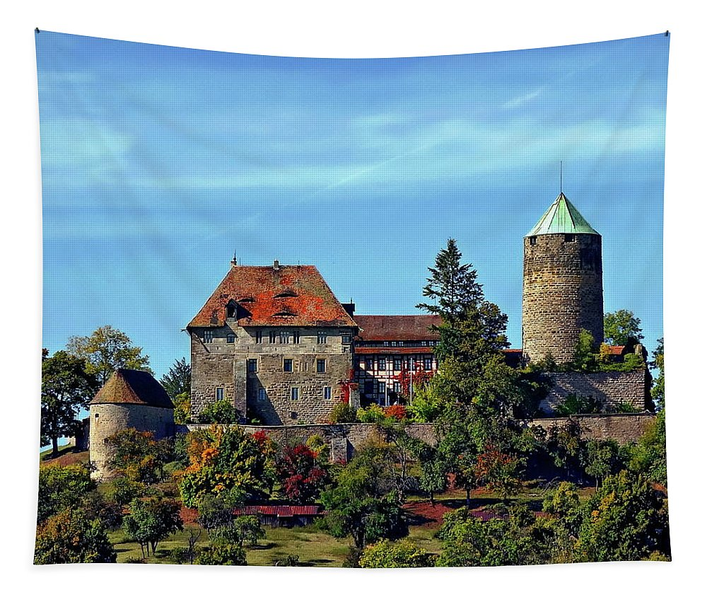 Ancient Tapestry featuring the photograph Burg Colmberg by Anthony Dezenzio