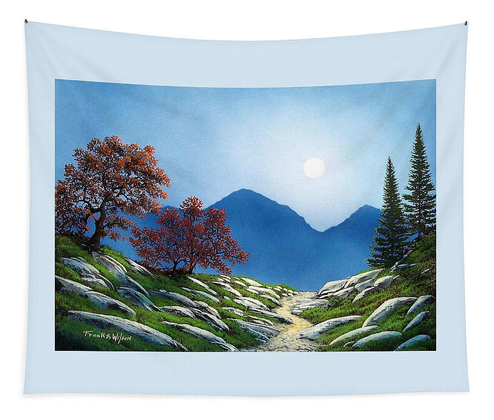 Landscape Tapestry featuring the painting By The Light Of The Moon by Frank Wilson
