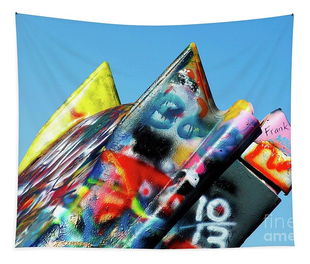 Texas Tapestry featuring the photograph Cadillac Ranch 2 by Bob Christopher