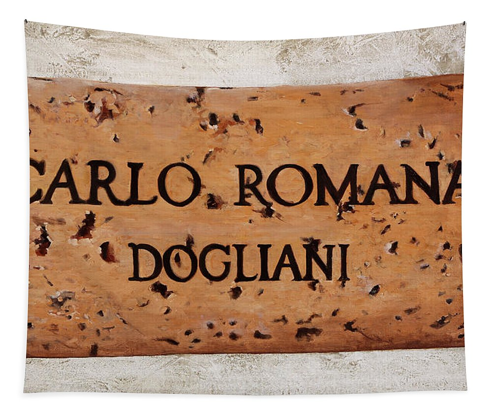 Cork Tapestry featuring the painting Carlo Romana - Dogliani by Danka Weitzen