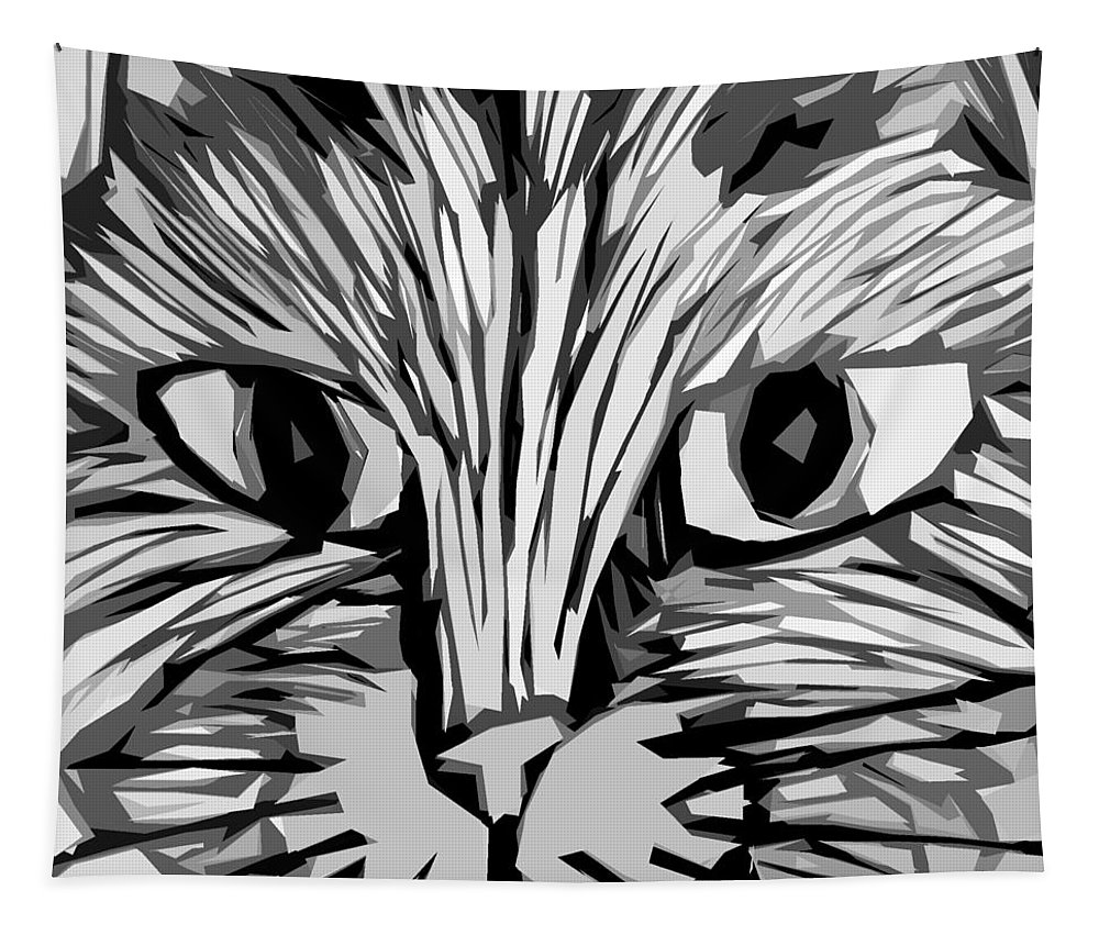 Cats Tapestry featuring the digital art Cat by Michelle Calkins