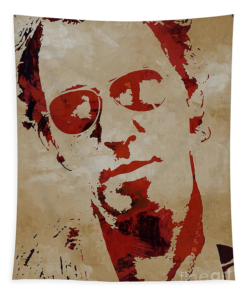 Chris Martin Coldplay Tapestry featuring the painting Chris Martin Coldplay by Gull G