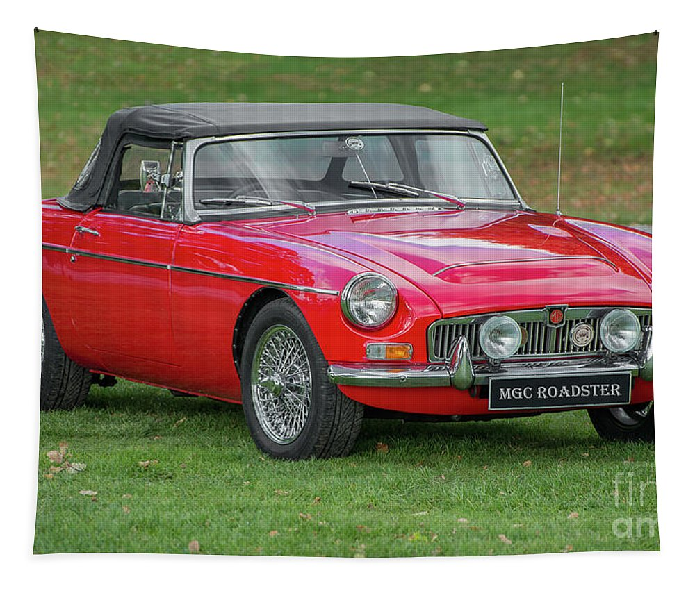 Classic Car Tapestry featuring the photograph Classic Mg by Adrian Evans