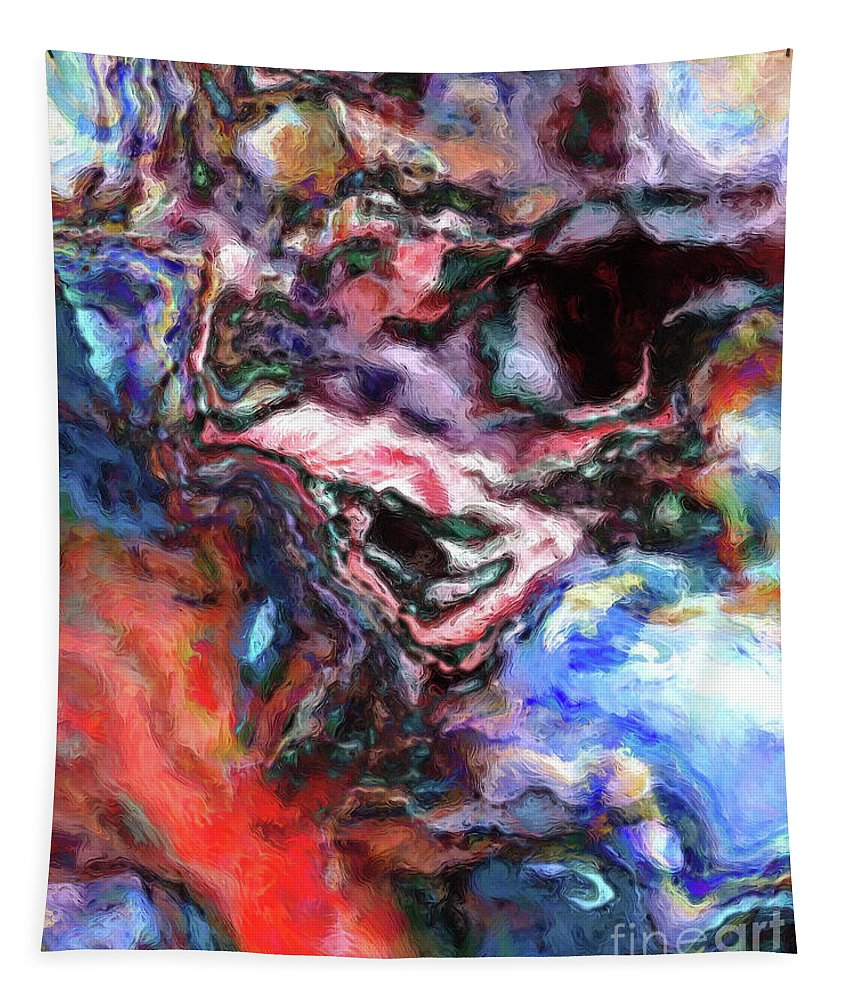 Abstract Tapestry featuring the digital art Colorful Abstract by Phil Perkins
