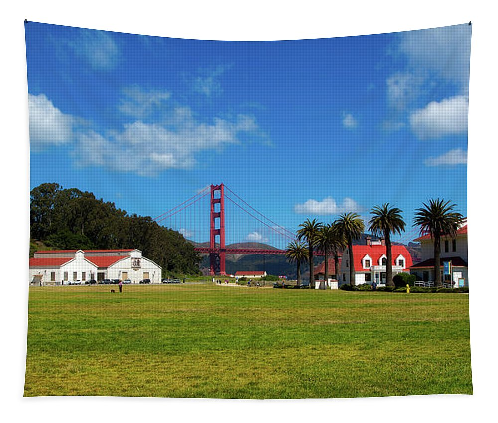 Crissy Field Tapestry featuring the photograph Crissy Field - San Francisco by Mountain Dreams