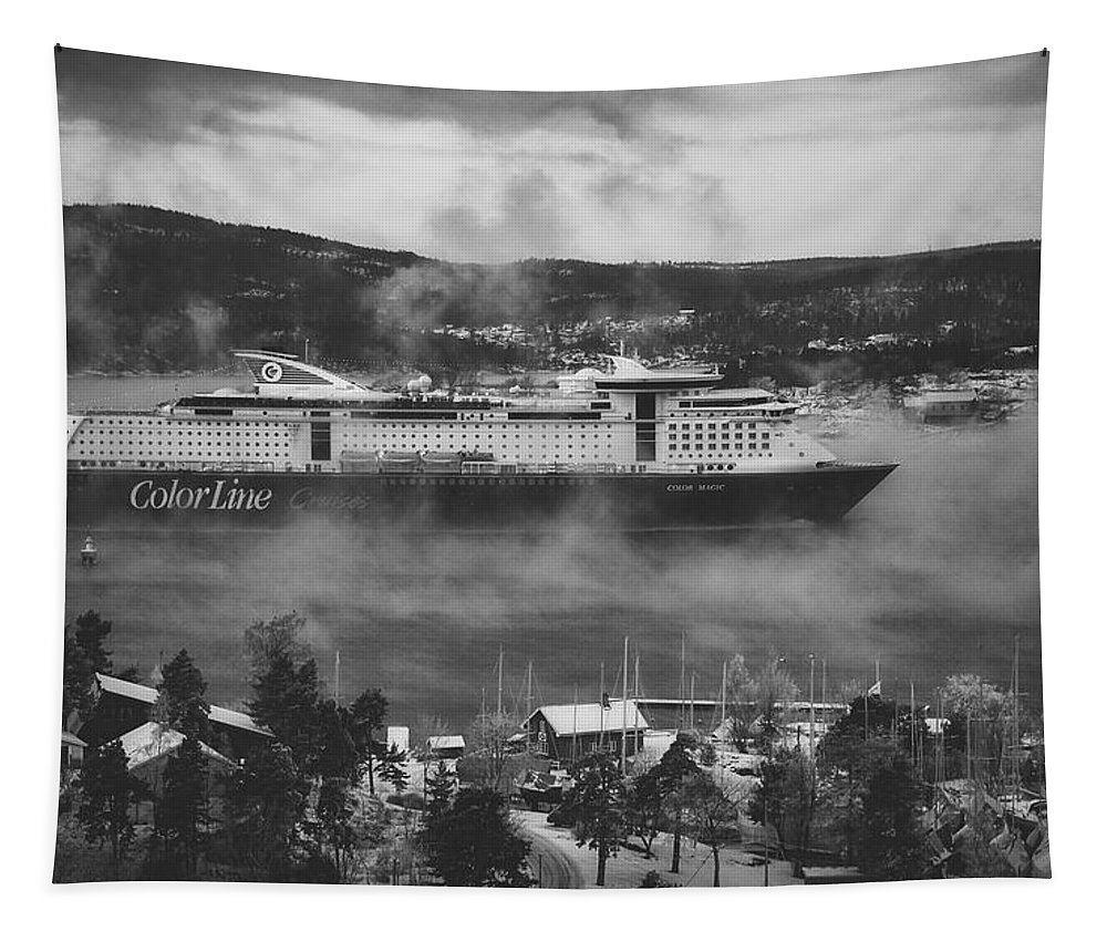 Ship Tapestry featuring the photograph Cruising Into Port by Unsplash