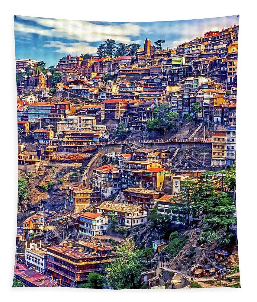 Darjeeling Tapestry featuring the photograph Darjeeling by Steve Harrington