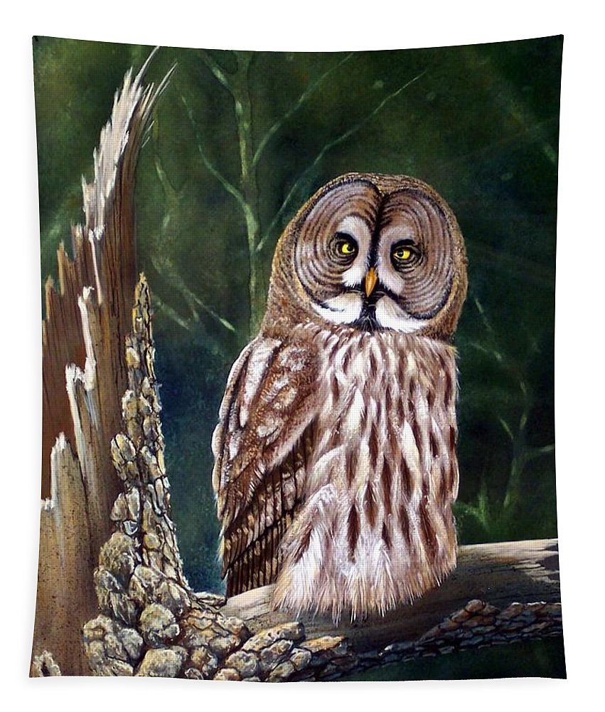 Wildlife Tapestry featuring the painting Deep In The Woods by Frank Wilson