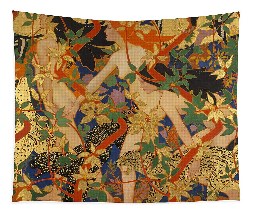 Robert Burns Tapestry featuring the painting Diana And Her Nymphs by Robert Burns