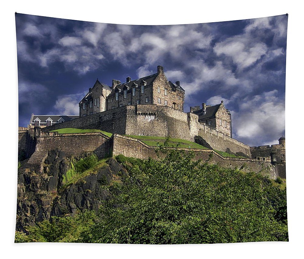 Historical Tapestry featuring the photograph Edinburgh Castle by Anthony Dezenzio