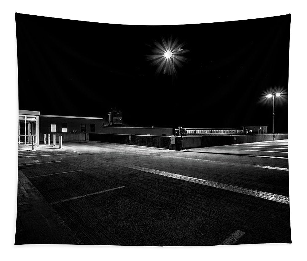 Parking Tapestry featuring the photograph Empty Spaces by Bob Orsillo