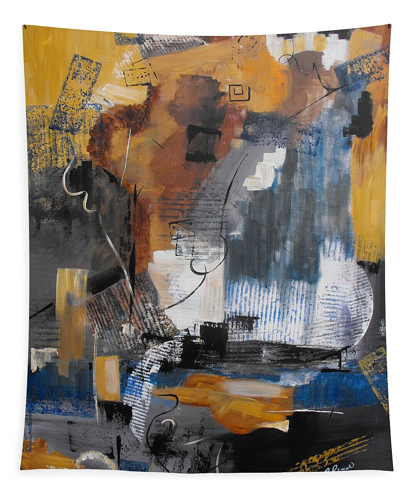 Abstract Tapestry featuring the painting Energy by Ruth Palmer