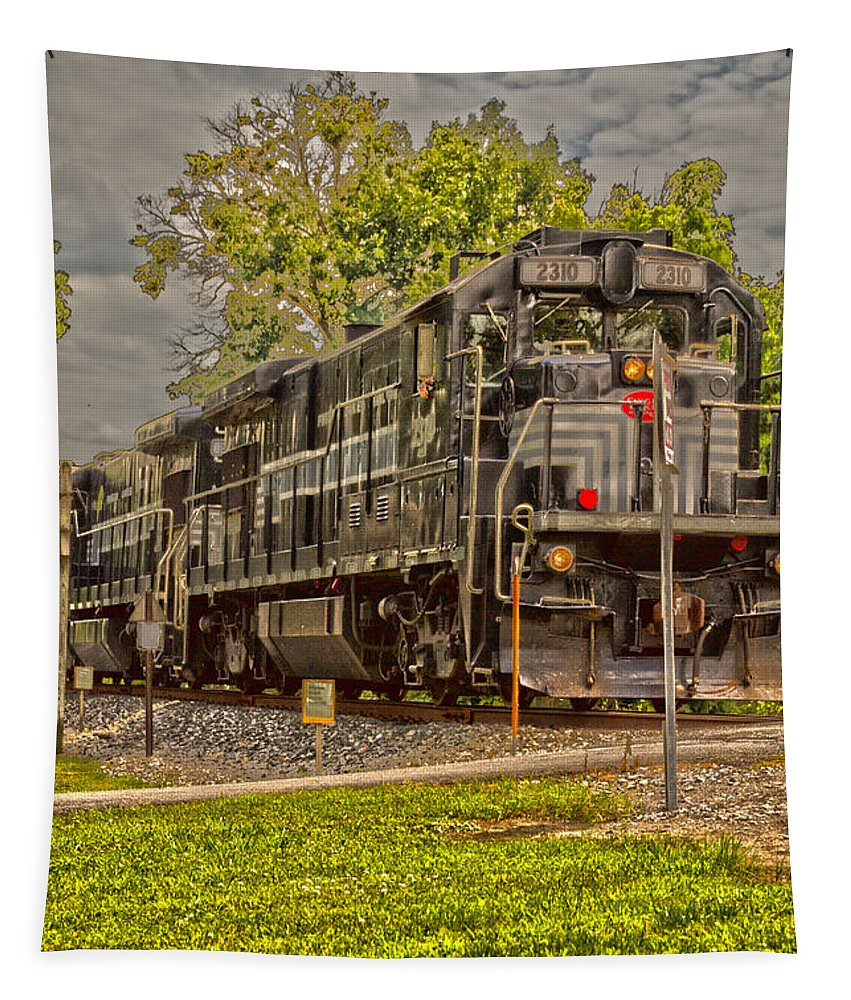 Engine Tapestry featuring the photograph Engine 2310 by William Norton