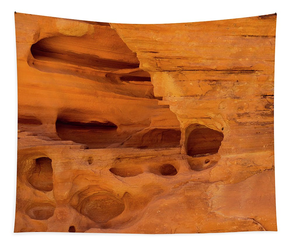 Landscape Tapestry featuring the photograph Eroded Sandstone Valley Of Fire by Frank Wilson