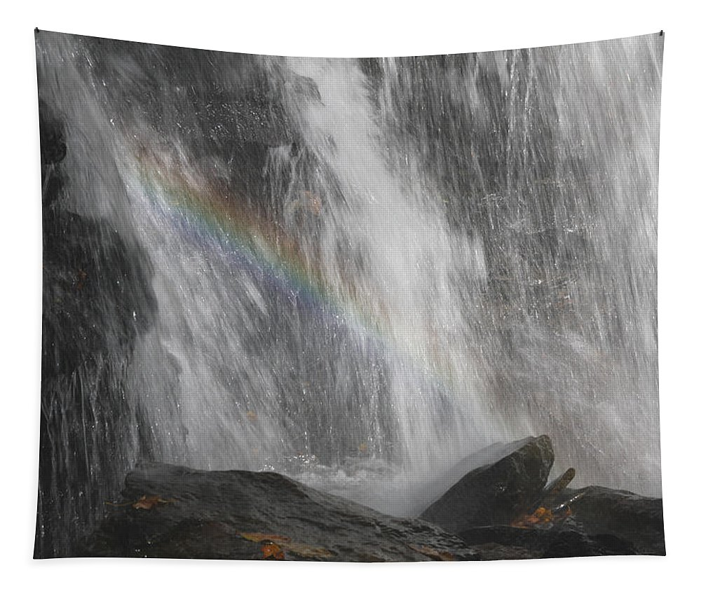 Waterfall Tapestry featuring the photograph Falls And Rainbow by Paul Tokarchuk