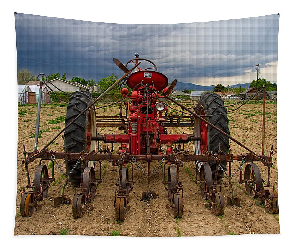 Farmall Tapestry featuring the photograph Farmall Tractor by Nick Gray