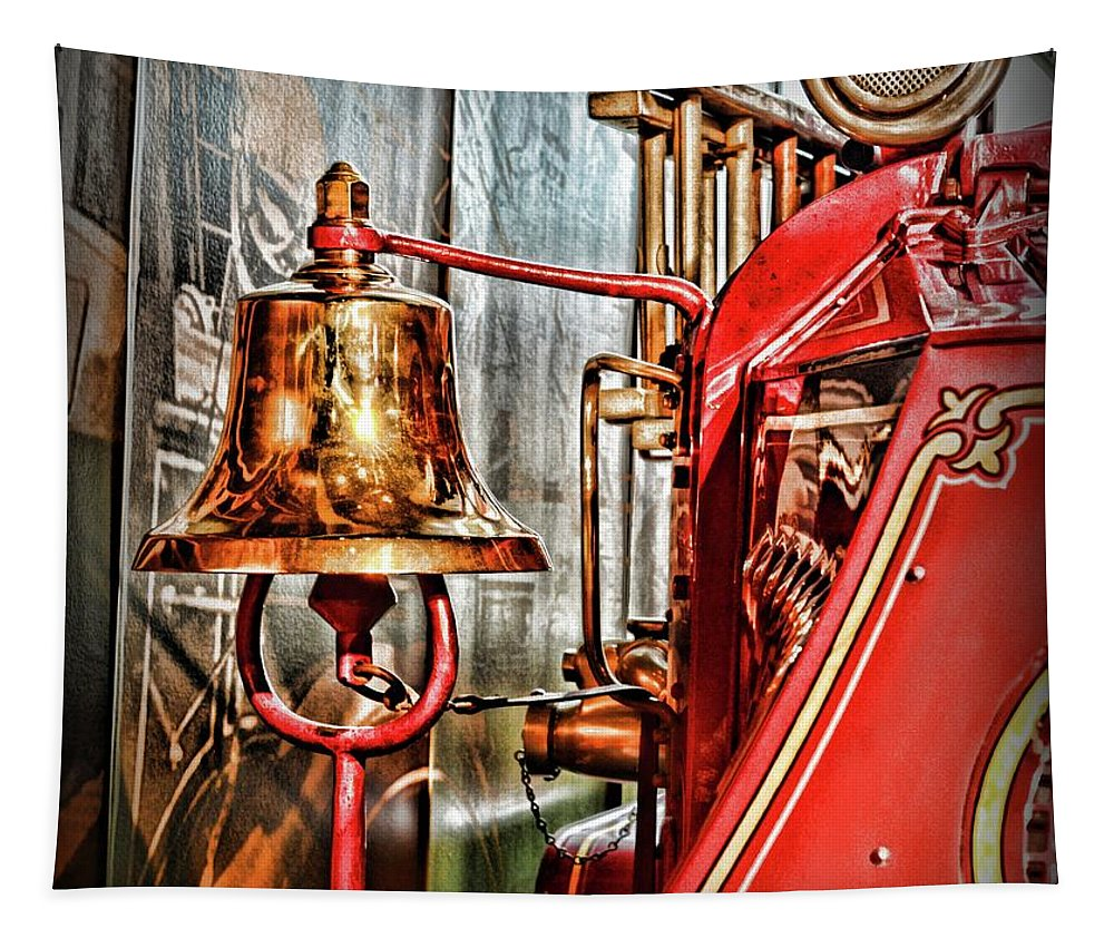 Paul Ward Tapestry featuring the photograph Fireman - The Fire Bell by Paul Ward