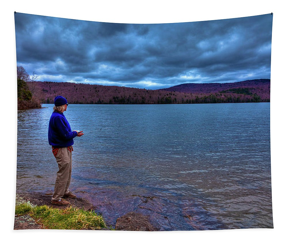 Fishing Limekiln Lake Tapestry featuring the photograph Fishing Limekiln Lake by David Patterson