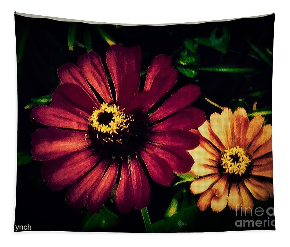 Dark Tapestry featuring the photograph Flowers Lighting Up The Darkness by Debra Lynch