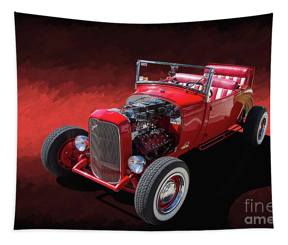 Ford Tapestry featuring the photograph Ford Hot Rod Roadster by Nick Gray