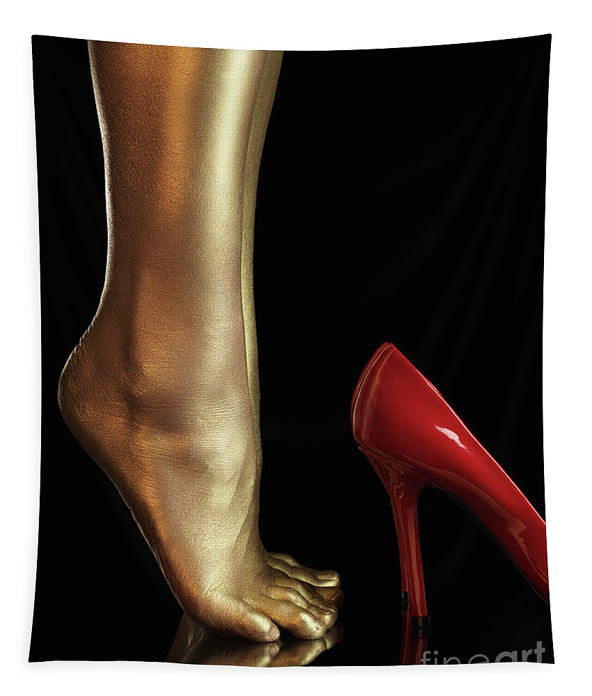 Legs Tapestry featuring the photograph Golden Legs by Maxim Images Prints
