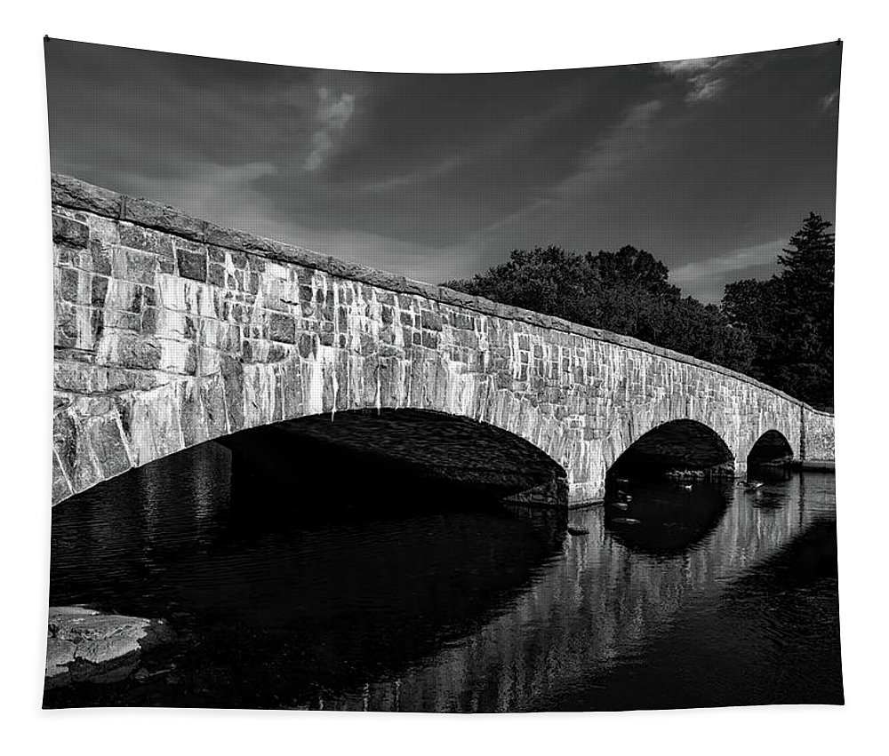 Gorham's Pond Tapestry featuring the photograph Gorham's Pond Bridge by Mountain Dreams