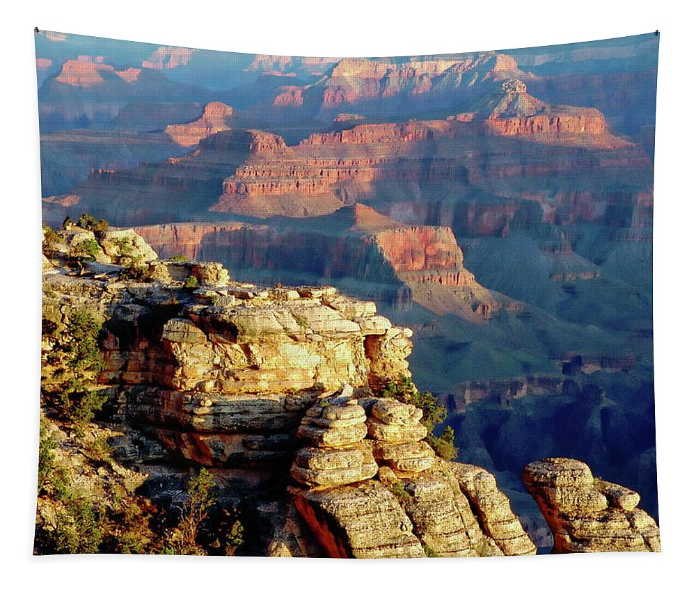 Amazing Tapestry featuring the photograph Grand Canyon by Anthony Dezenzio