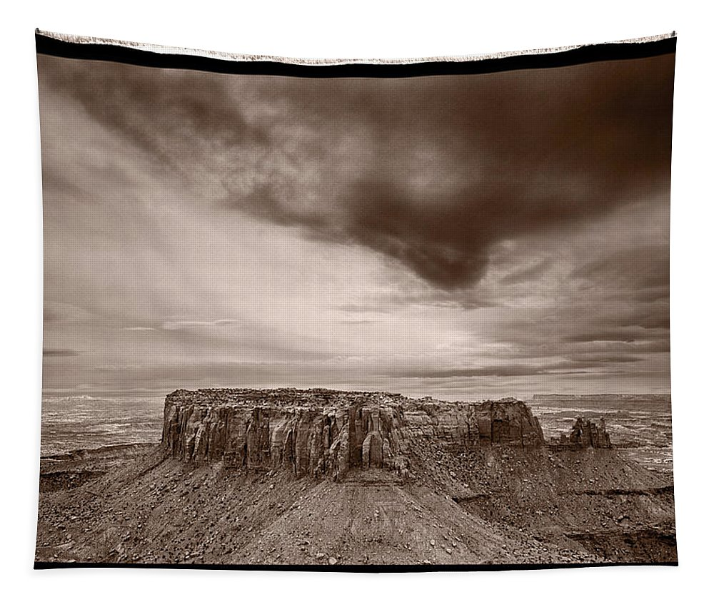 Grandview Tapestry featuring the photograph Grandview Canyonlands National Park Utah by Steve Gadomski